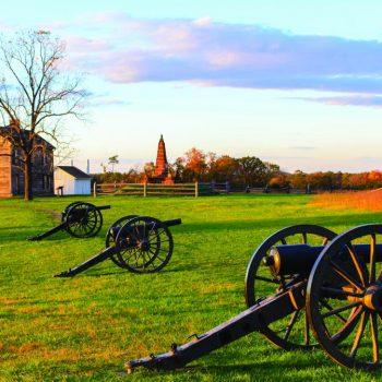 Manassas National Battlefield Park at sunset - USA Battlefield Tours