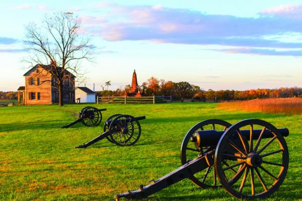 Manassas National Battlefield Park at sunset - USA Battlefield Tours