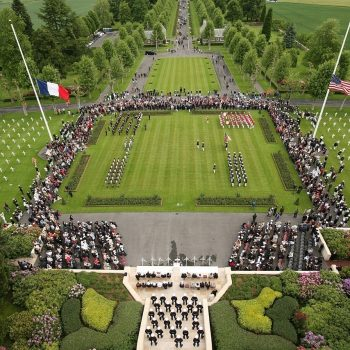 Battle of Belleau Wood - U.S. Marines and French service members support the Memorial Day ceremony at the Aisne-Marne