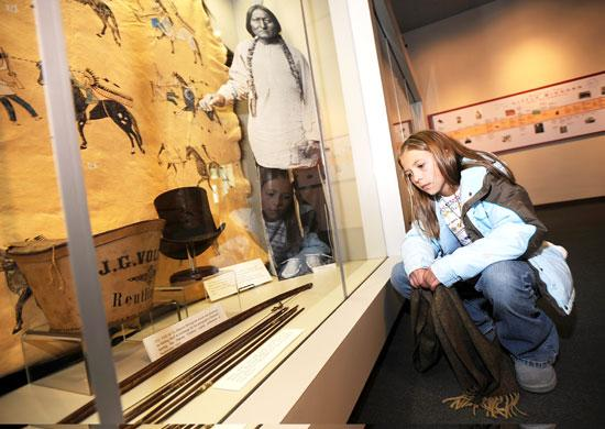 Finding Relatives - Little Big Horn Museum Sitting Bull Exhibit - Mat McLachlan Battle Tours