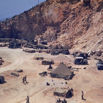 American soldiers camp along the roadside on their way to the long and bloody Italian Campaign, the 1943 invasion of Sicily - Italy Battlefield Tours