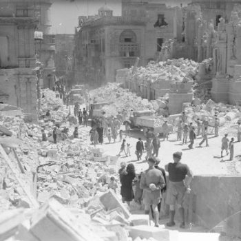 Valetta Bomb Damage - Italy Battlefield Tours