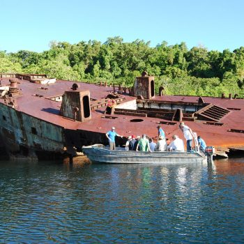 Exploring WW2 relics - Guadalcanal 75th Anniversary Tour