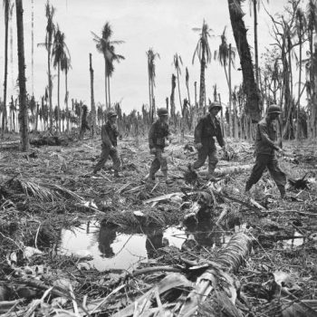 American troops, Buna, New Guinea Campaign - Milne Bay 75th Anniversary Tour