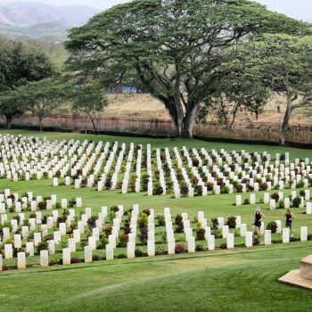Just off the road from Port Moresby at the southern end of the Kokoda track is Bomana, the largest war cemetery in the Pacific - Milne Bay 75th Anniversary Tour