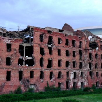 Pavlov's House was a fortified apartment building in which Red Army defenders held for 60 days against a heavy Wehrmacht offensive during the Battle of Stalingrad - Stalingrad 75th Anniversary Tours