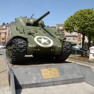 Sherman Tank at Bastogne - Tanks in Town