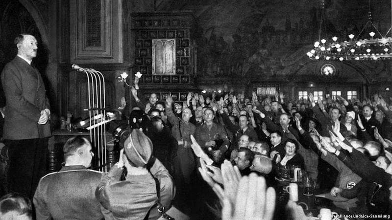 Hofbrau House where Hitler gave many of his early speeches - The Rise of Evil