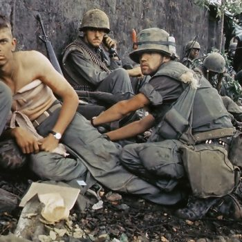 A wounded Marine receives medical attention during the Battle for Hue City in 1968 - Vietnam Revealed