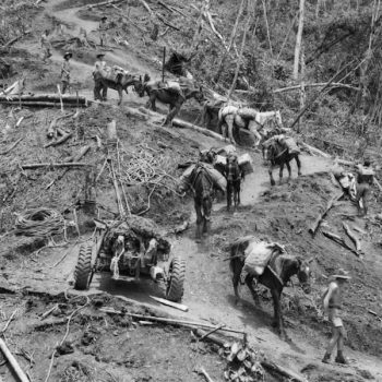 Australian troops navigate the Kokoda track during WWII - Trek Kokoda Tour