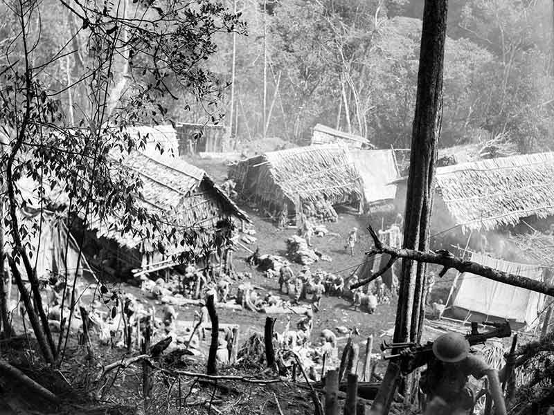 Eora village during the action at Isurava 1942 - Trek Kokoda Tour