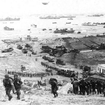 The build-up of Omaha Beach, reinforcements of men and equipment moving inland - Normandy D-Day Tour