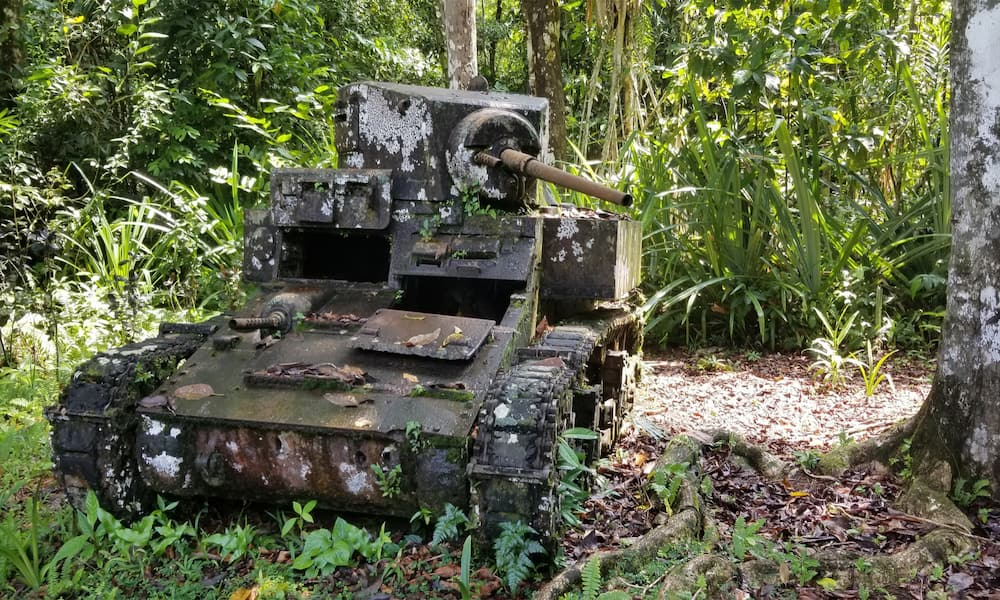 US tank, Solomon Islands - US Battle Tours
